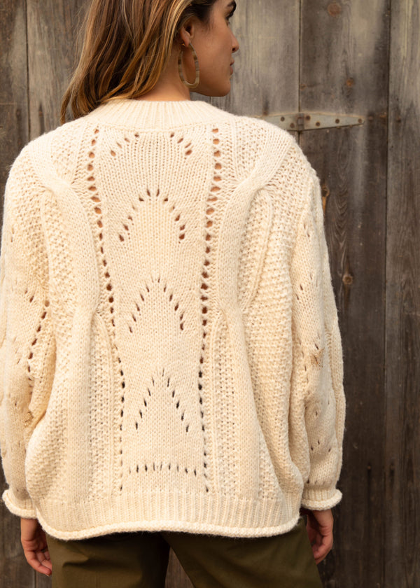 Solana Eyelet Knit Sweater
