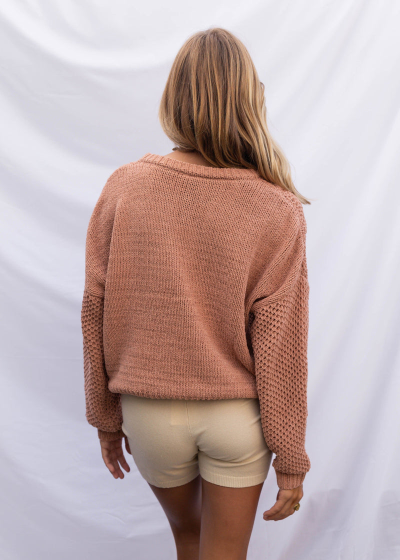 Ruby Chenille Sweater - Clay