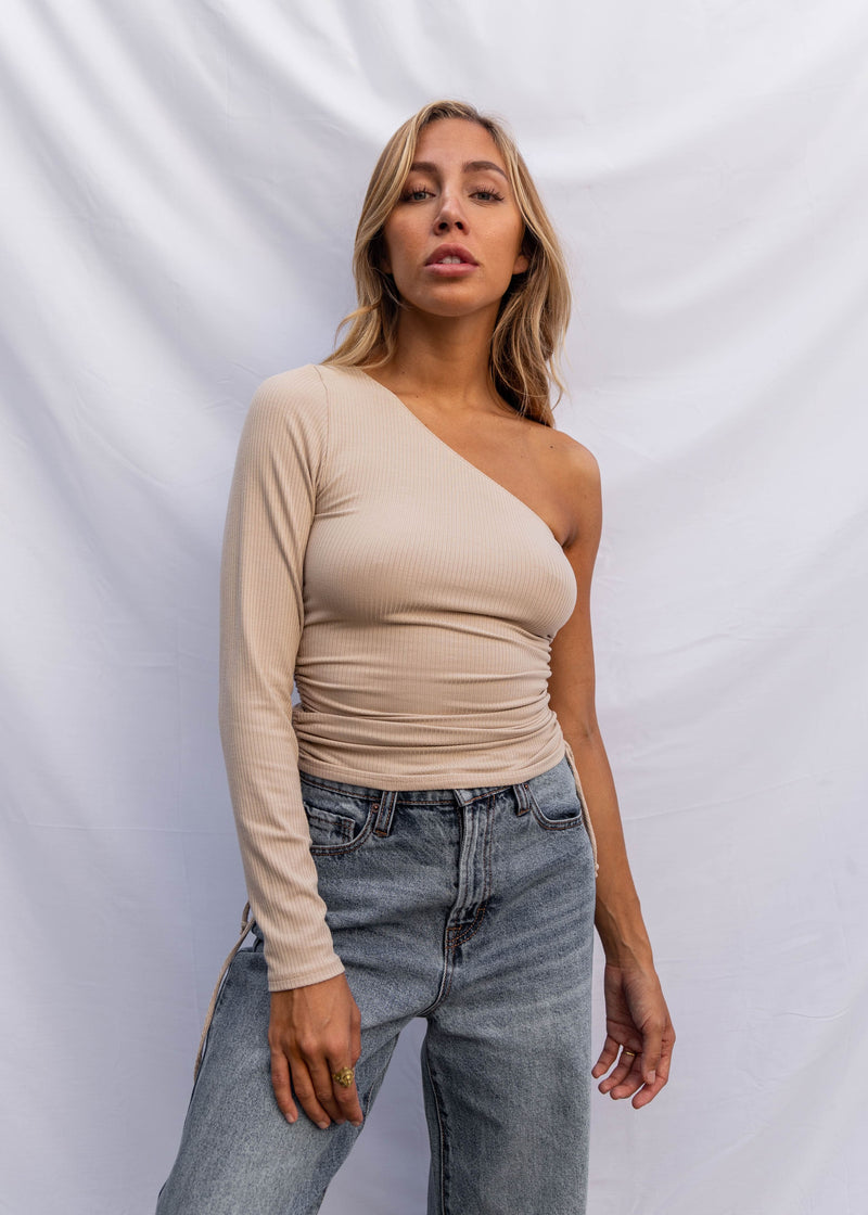 Tamora Ruched Top - Taupe