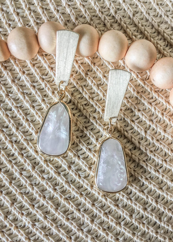 pearl earrings, shell earrings, cute summer earrings, mother of pearl earrings, summer accessories, accessory ideas, cute accessories, gift ideas for her, accessory trends, summer trends 2019, New arrivals