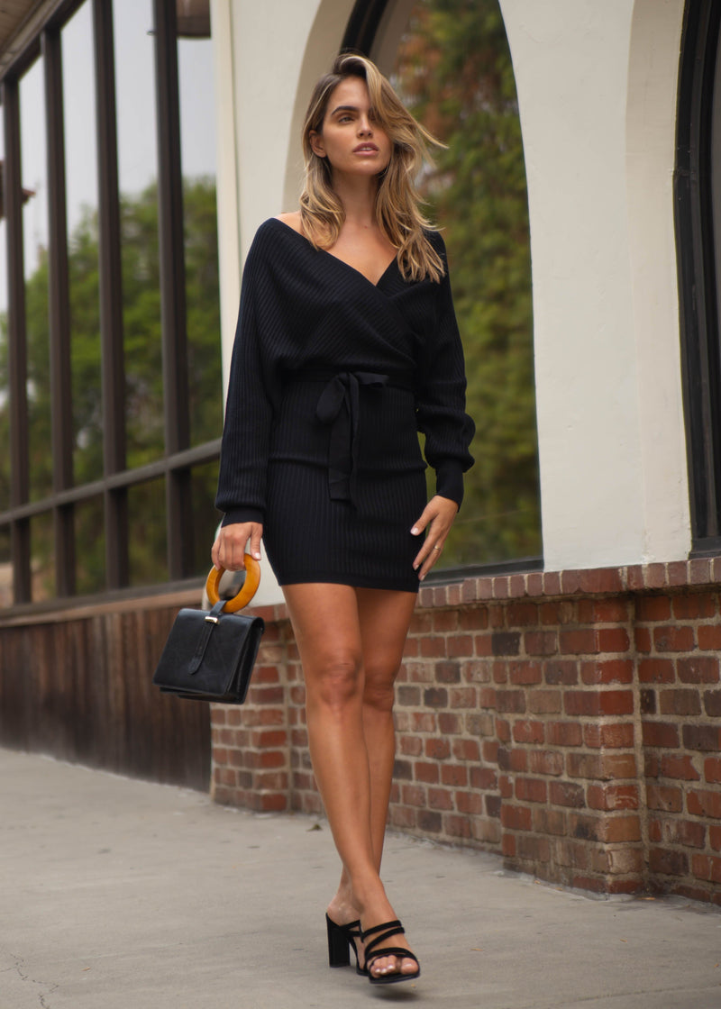 Pala Wrap Sweater Dress