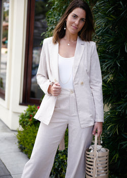 pinstripe cotton blazer, cotton blazer, linen blazer, summer blazer, summer jacket, button up jacket, summer jacket