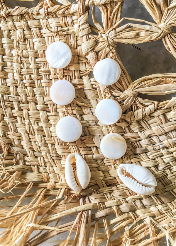 puka shell earrings, shell earrings, puka shell drop earrings,  summer accessories, accessory ideas, cute accessories, gift ideas for her, accessory trends, summer trends 2019, New arrivals