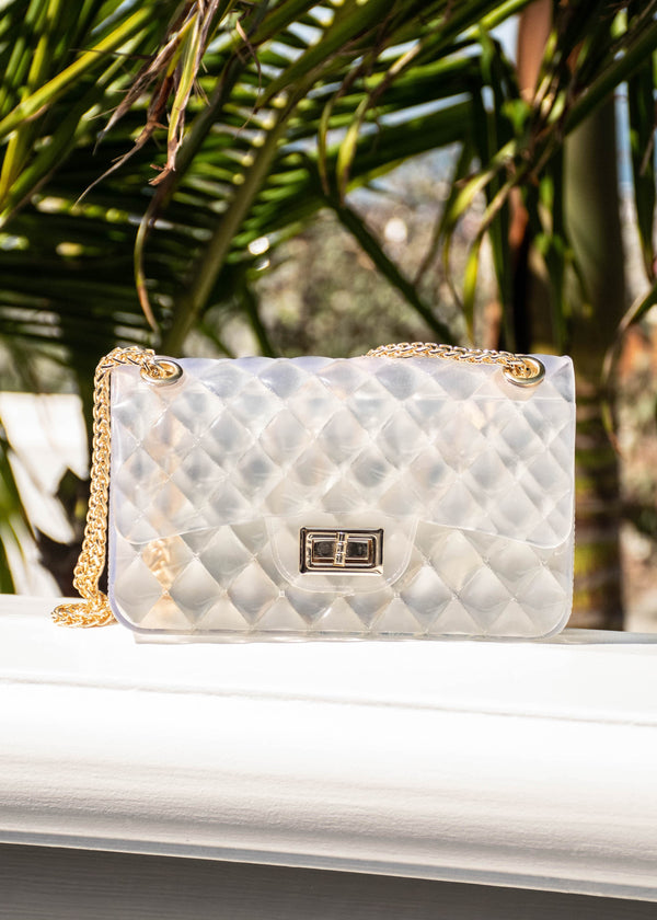 quilted clear purse, clear purse, hard case clear bag, transp[arent bag, bag trends, runway accessory trends, summer trends 2019, cute clutches for summer