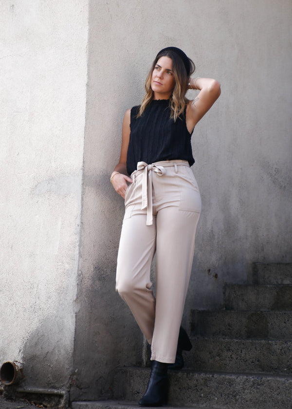 High Rise Rayon Trouser