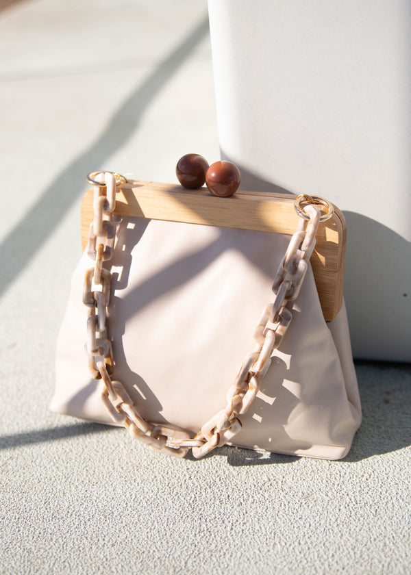 Resin Chain + Wood Bag