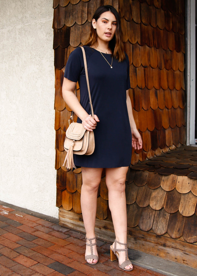 tee dress, tee shirt dress, shift dress, rib knit dress, knit dress, beach dress, short sleeve dress, raglan sleeve dress, summer dress, NYFW, summer style, spring style