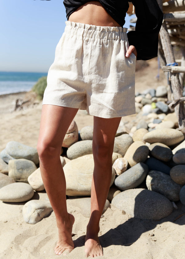 Salt Water Linen Short - Greige