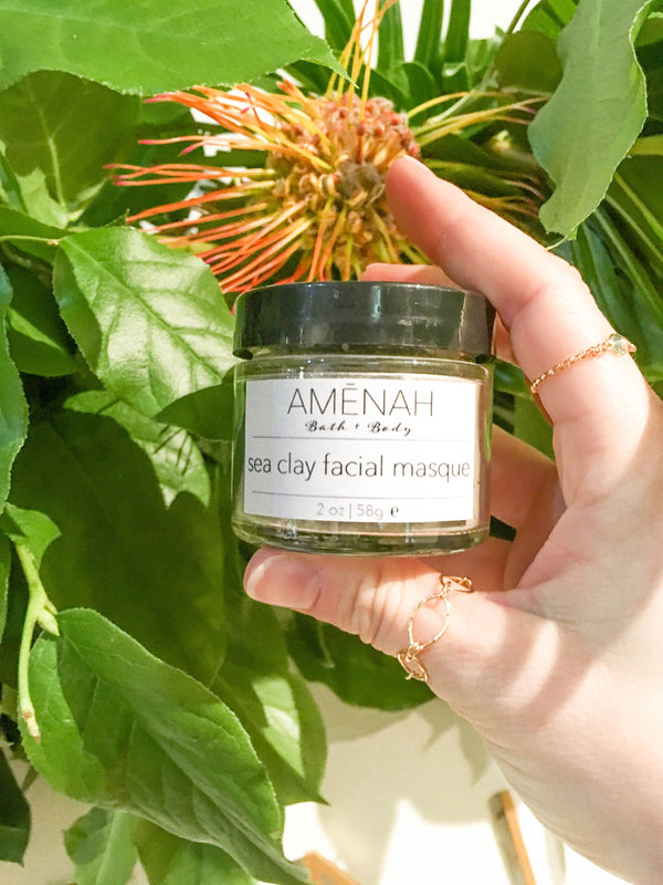 Sea Clay Facial Masque - AMĒNAH
