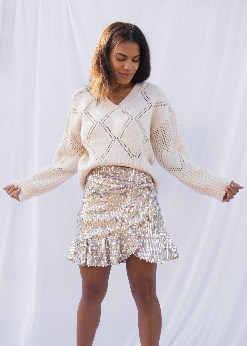 Agate Sequin Mini Skirt