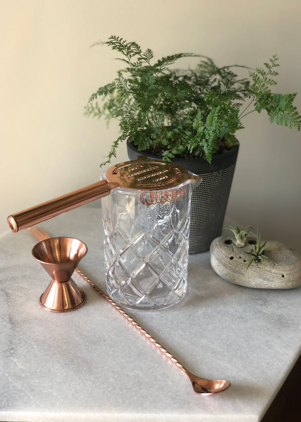 Copper Plated Cocktail Set - AMĒNAH