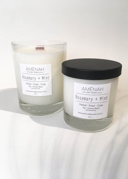 Rosemary + Mint Candle - AMĒNAH
