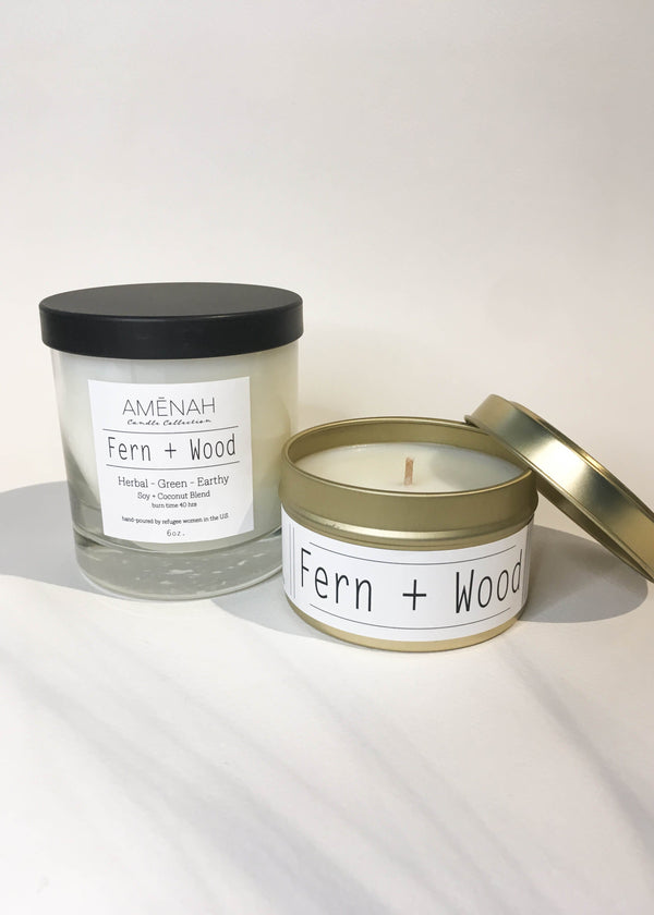 Fern + Wood Candle