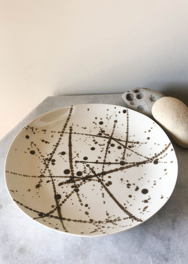Bronze Splatter Dinner Plate- Set of 4