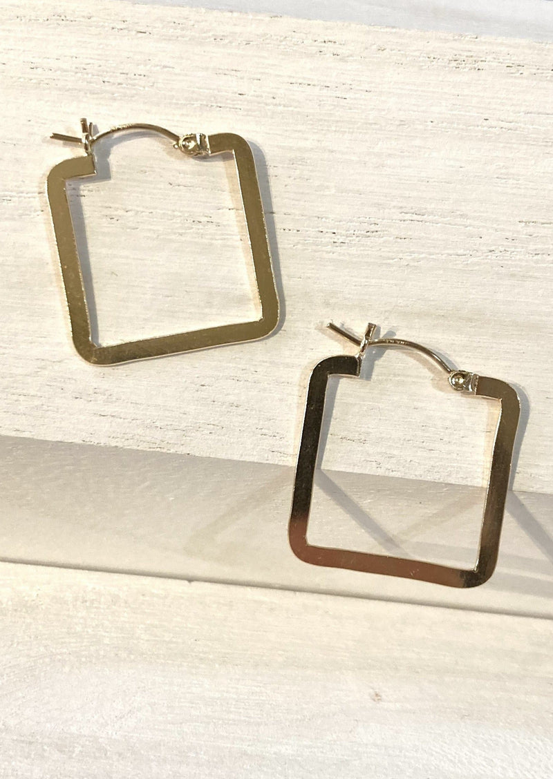 Gold Fill Square Hoops
