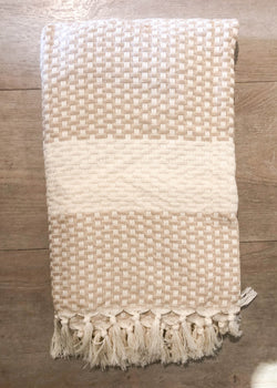 Turkish Towel - Taupe Checkerboard