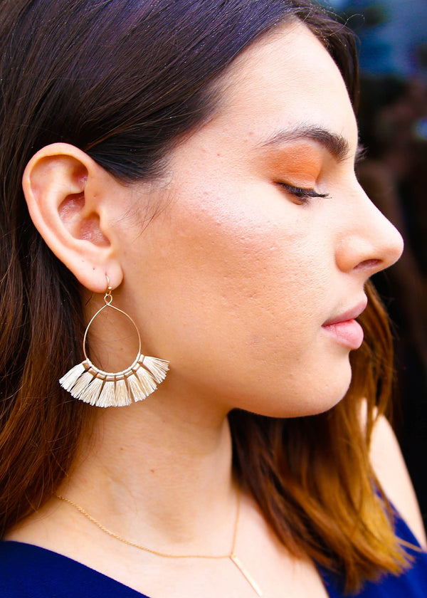 Tassel Hoop Statement Earrings