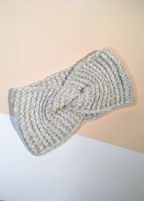 Chenille Ear Warmer Headband - AMĒNAH
