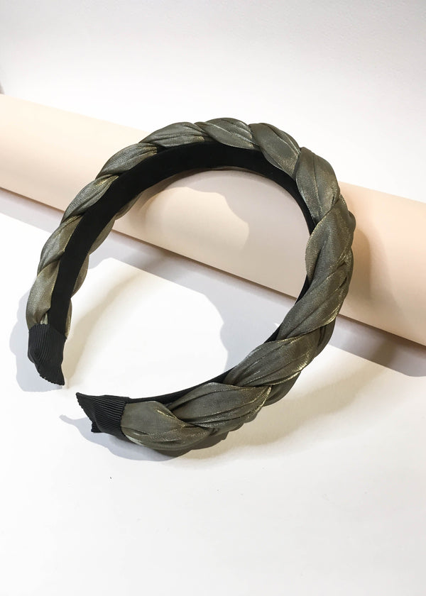 Braided Satin Headband - AMĒNAH