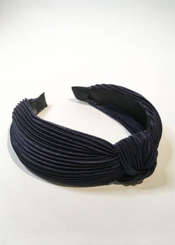 Pleated Satin Knot Headband - AMĒNAH