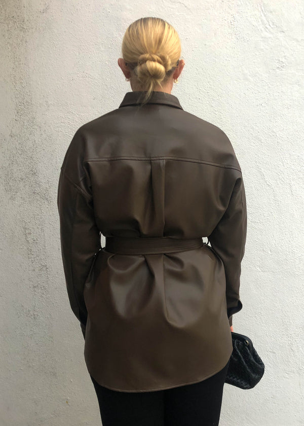 Corsica Faux Leather Jacket