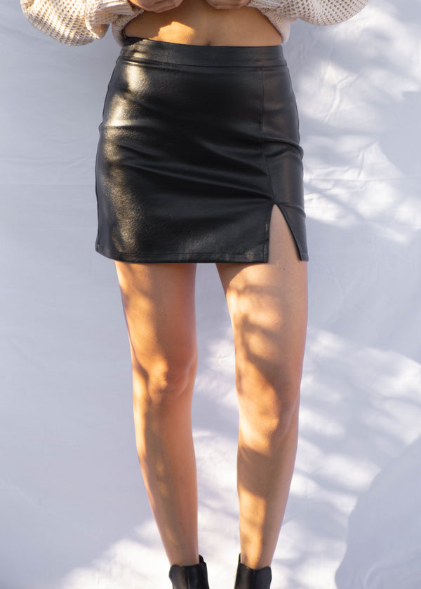 Acacia Vegan Leather Mini Skirt