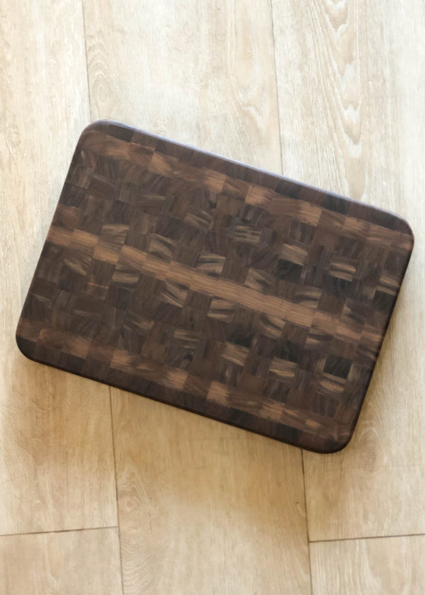 Walnut End Grain Cutting Board - AMĒNAH