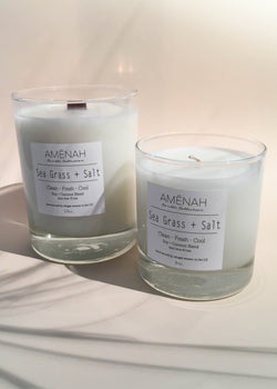 Sea Grass + Salt Candle - AMĒNAH