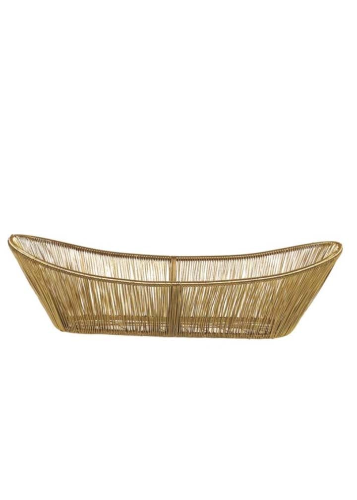 Gold Rhythm Wire Basket