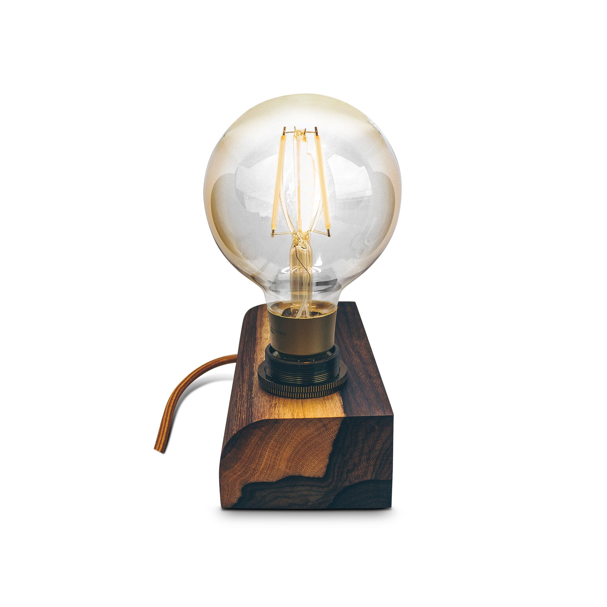 Industrial Edison Lampe Holz
