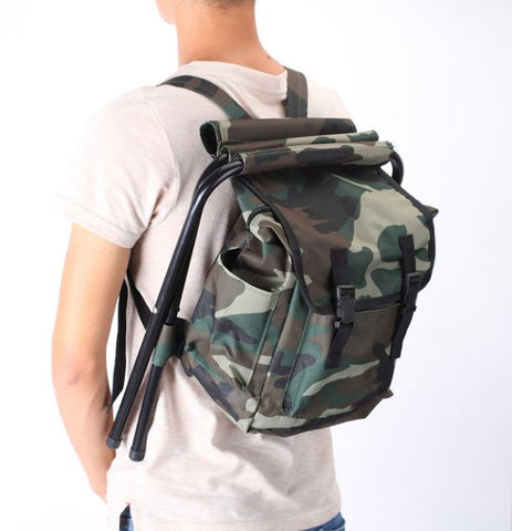 Outdoor Fishing Backpack With Lounge Chair