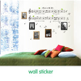 Music Sticker Bedroom Decor & Dancing Music Note Removable Wall Sticker