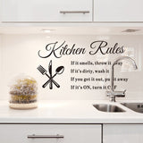 Wall Stickers Kitchen Rules Decal Home Beautiful Pattern Design Decoration home decor