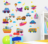 Cartoon cars child room wall stickers for kids room boy bedroom wall decals