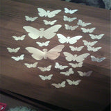 30PCS Butterfly Combination 3D Mirror Wall Stickers Home Decoration