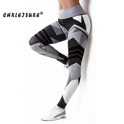 Women Irregular Color Blocks Quick-drying Fitness Legging Elasticity Leggings Workout