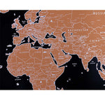 World Map Scratch With Flags & US States Scratch World Map Wall Stickers
