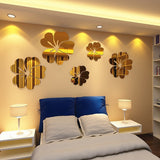 5 pcs Flower Pattern Home Decor Mirror Wall Stickers