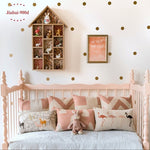 Gold polka Dots Wall Sticker Wall Decal, Removable home decoration art