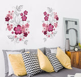 Wall Stickers Flowers Living Room TV/Sofa Background Home Decoration