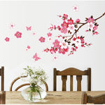 beautiful sakura wall stickers living bedroom flowers pvc home decals mural arts poster