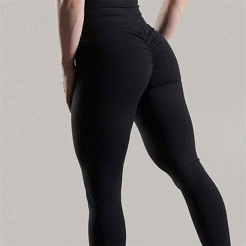 Solid Push Up Leggings Women High Waist Classic Trousers
