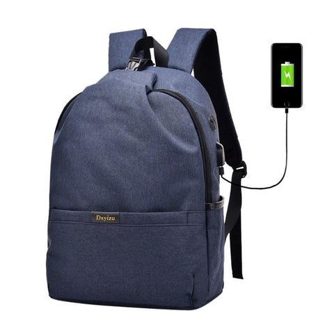 Waterproof USB Charging Backpack For Teenagers