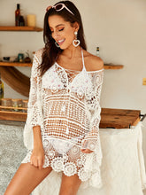 Load image into Gallery viewer, Beach Luxury Crochet Guipure Lace Sheer Cover Up
