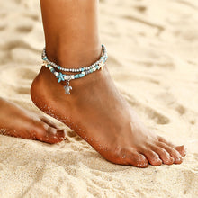 Load image into Gallery viewer, Beach Luxury Bohemian Beach Ankle Chain with Beads Alloy Sea Star