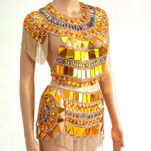"Load image into Gallery viewer, Beach Luxury Metal Chain Party Outfit ""Cleo"" Festival Dream Outfit"