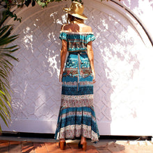 Load image into Gallery viewer, Beach Luxury Bohemian Two Piece Crop Top and Maxi Skirt