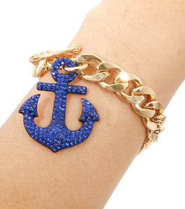 Beach Luxury Sail Pendant Toggle Bracelet