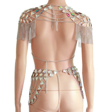 "Load image into Gallery viewer, Beach Luxury Metal Chain Club Party Outfit ""Cleo"""