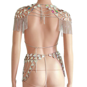 "Beach Luxury Metal Chain Club Party Outfit ""Cleo"""